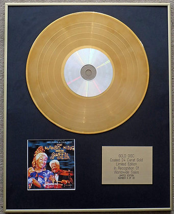 Tito Puente & Celia Cruz - Limited Edition CD 24 Carat Gold Coated LP Disc - The