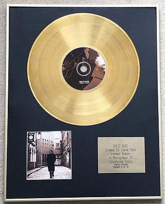 Bap Kennedy - Limited Edition CD 24 Carat Gold Coated LP Disc - Lonely Street