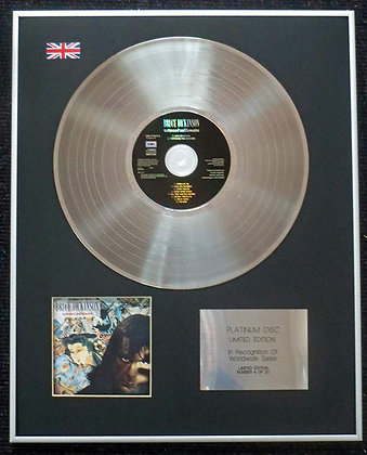 Bruce Dickinson (of Iron Maiden) - Limited Edition CD Platinum LP Disc - Tattooe