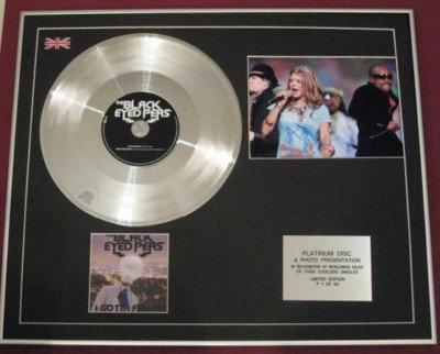 BLACK EYED PEAS-CD PlatinumDisc+Photo-I GOT A FEELING
