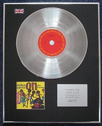Miles Davis - Limited Edition CD Platinum LP Disc - On the corner