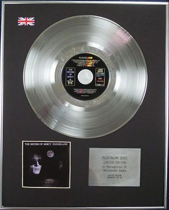 SISTERS OF MERCY - Limited Edition CD Platinum Disc - FLOODLAND