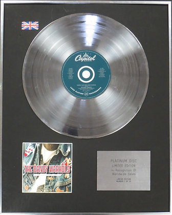THE DANDY WARHOLS - Limited Edition CD Platinum Disc - THIRTEEN TALES�