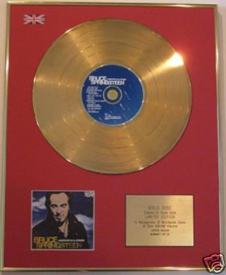 BRUCE SPRINGSTEEN-LtdEdt CD GoldDisc-WORKING ON A DREAM