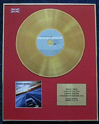 Nickelback - Limited Edition CD 24 Carat Gold Coated LP Disc - All the?