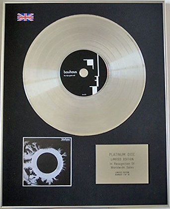 BAUHAUS - Limited Edition CD Platinum Disc - THE SKY'S GONE OUT