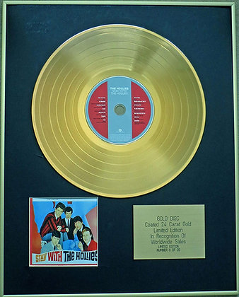 THE HOLLIES - Exclusive Limited Edition 24 Carat Gold Disc - STAY WITH THE HOLLI