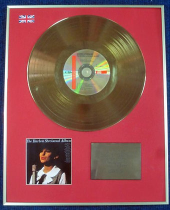 BARBRA STREISAND - CD 24 Carat Gold Coated LP Disc - ALBUM