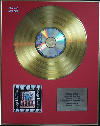 BOYZ 11 MEN - Limited Edition CD 24 Carat Coated Gold Disc - COOLEYHIGHHARMONY