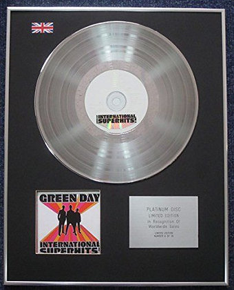 Green Day - Limited Edition CD Platinum LP Disc - International Super Hits