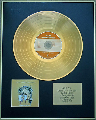 SISTER DOUBLE HAPPINESS - Exclusive Limited Edition 24 Carat Gold Disc - HEART A