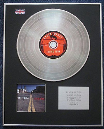 Larry Block - Limited Edition CD Platinum LP Disc - Losing Town