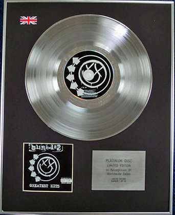 BLINK-182 - Limited Edition CD Platinum Disc - GREATEST HITS