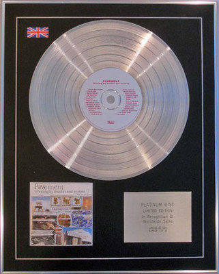 PAVEMENT - Limited Edition CD Platinum Disc - WESTING