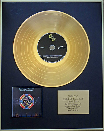 ELECTRIC LIGHT ORCHESTRA - Exclusive Limited Edition 24 Carat Gold Disc - A NEW