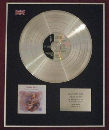 CHRIS REA - CD Platinum Disc - DANCING WITH STRANGERS