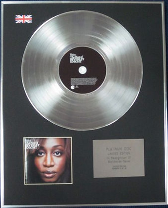 BEVERLEY KNIGHT - Limited Edition CD Platinum Disc - THE BEST OF