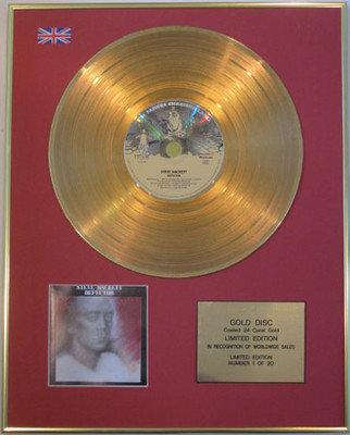 STEVE HACKET - Limited Edition 24 Carat CD Gold Disc - DEFECTOR