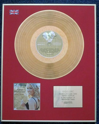 CARRIE UNDERWOOD - Limited Edition CD 24 Carat Gold Coated LP Disc - SOME HEARTS