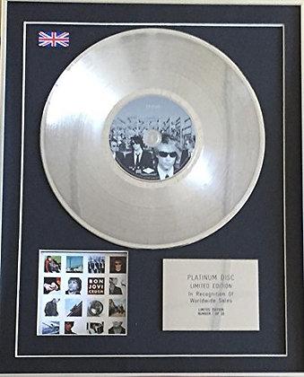 BON JOVI - Limited Edition CD Platinum Disc - CRUSH