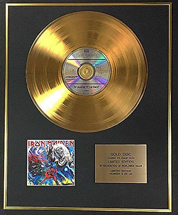Iron Maiden - Exclusive Limited Edition 24 Carat Gold Disc - Number Of The Beast