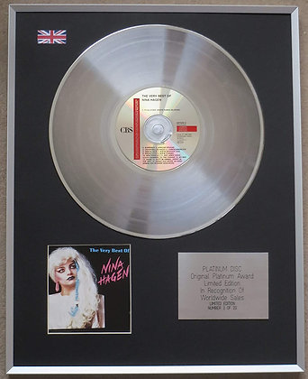 NINA HAGEN - Limited Edition CD Platinum LP Disc - THE VERY BEST OF