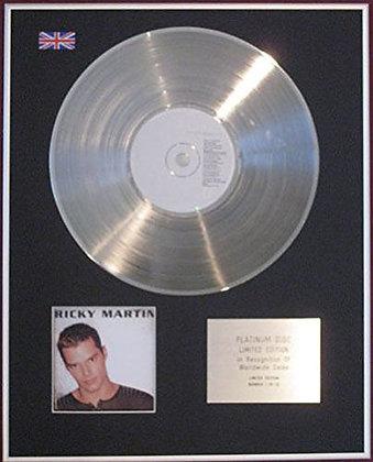 RICKY MARTIN - CD Platinum Disc - RICKY MARTIN