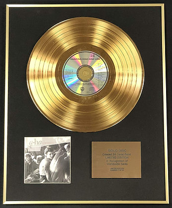 A-ha - Exclusive Limited Edition 24 Carat Gold Disc - Hunting High And Low