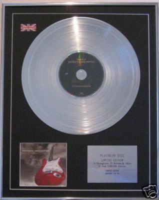 DIRE STRAITS  CD Platinum Disc - PRIVATE INVESTIGATIONS