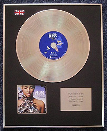 Alicia Keys - Limited Edition CD Platinum LP Disc - The Element of Freedom