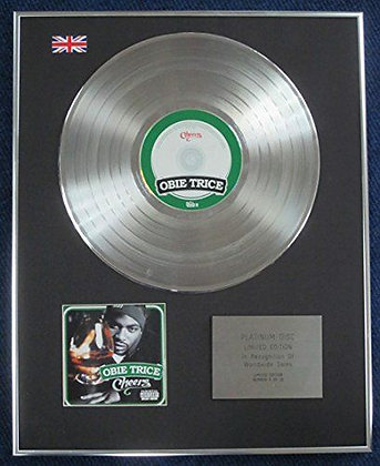 OBIE TRICE - Limited Edition CD Platinum LP Disc - CHEERS