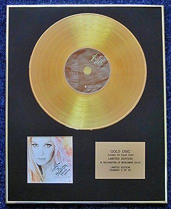 Faith Hill - Limited Edition CD 24 Carat Gold Coated LP Disc - There You'll Be