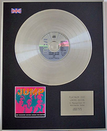 POINTER SISTERS - Limited Edition CD Platinum Disc - BEST OF