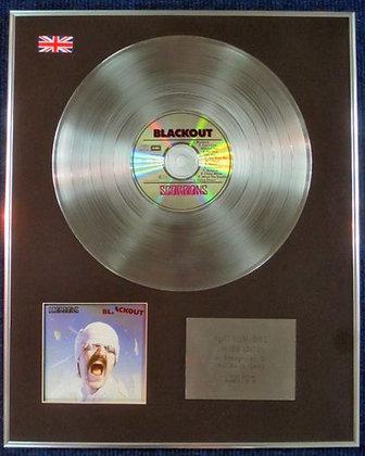 SCORPIONS - Limited Edition CD Platinum LP Disc - BLACKOUT