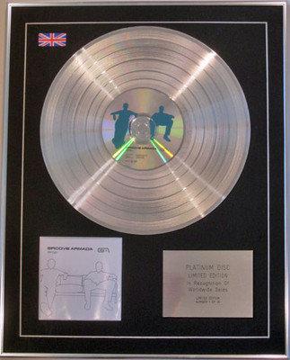 GROOVE ARMADA - Ltd Edition CD Platinum Disc - VERTIGO