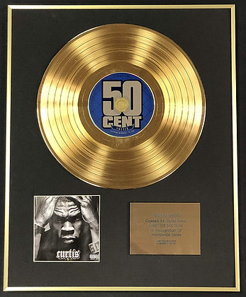 50 Cent - Exclusive Limited Edition 24 Carat Gold Disc - Curtis