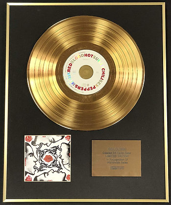 Red Hot Chili Peppers - Exclusive Edition 24 Carat Gold Disc - Blood Sugar Sex