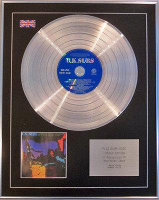 U.K.SUBS  - Ltd Edition CD Platinum Disc - BRAND NEW AGE