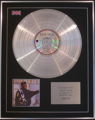 KEITH SWEAT - Limited Edition CD Platinum Disc- MAKE IT LAST FOREVER