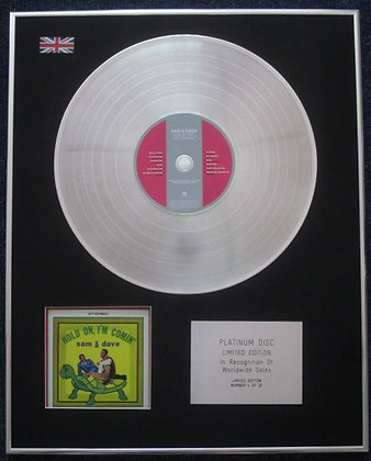 SAM & DAVE - Limited Edition CD Platinum LP Disc - HOLD ON I'M COMIN'