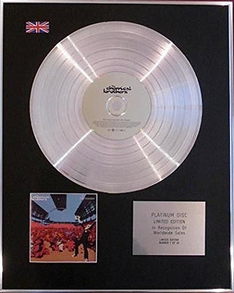 CHEMICAL BROTHERS - Limited Edition CD Platinum Disc - SURRENDER