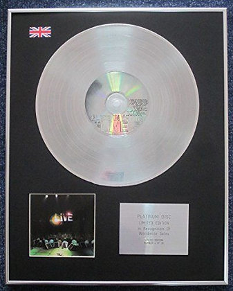 Alice In Chains - Limited Edition CD Platinum LP Disc - Live