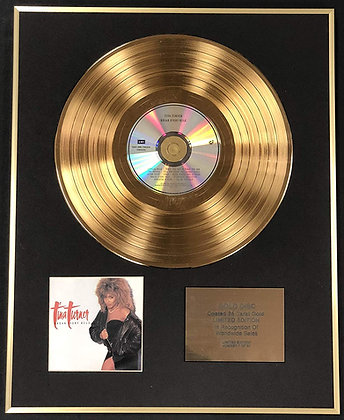 Tina Turner - Exclusive Limited Edition 24 Carat Gold Disc - Break Every Rule