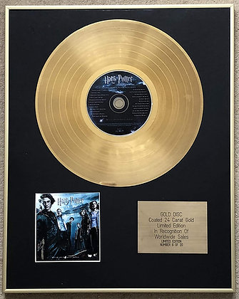 HARRY POTTER - Limited Edition CD 24 Carat Gold Coated LP Disc - AND THE GOBLET