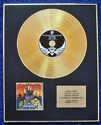Five Finger Death Punch - LTD Edition CD 24 Carat Gold Coated LP Disc - War Is…