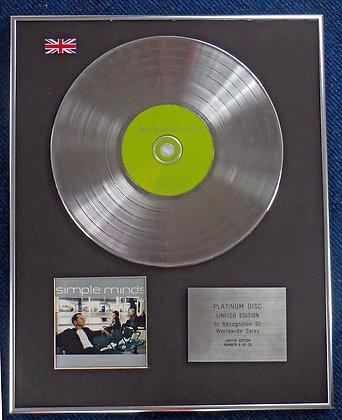 Simple Minds - Limited Edition CD Platinum LP Disc - Simple Minds