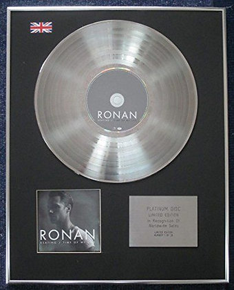 Ronan Keating - Limited Edition CD Platinum LP Disc - Time of My Life