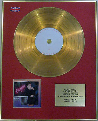 MILEY CYRUS - Ltd Edition CD  24 Carat Gold Disc - BANGERZ