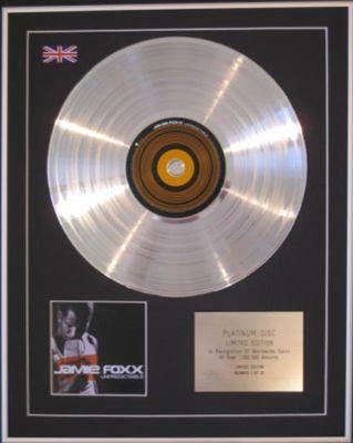 JAMIE FOXX - CD Platinum Disc - UNPREDICTABLE