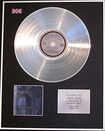 BON JOVI  - CD Platinum Disc - NEW JERSEY
